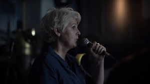 Caroline Bergvall, Conference, 2018. Video Still: Andy Delaney